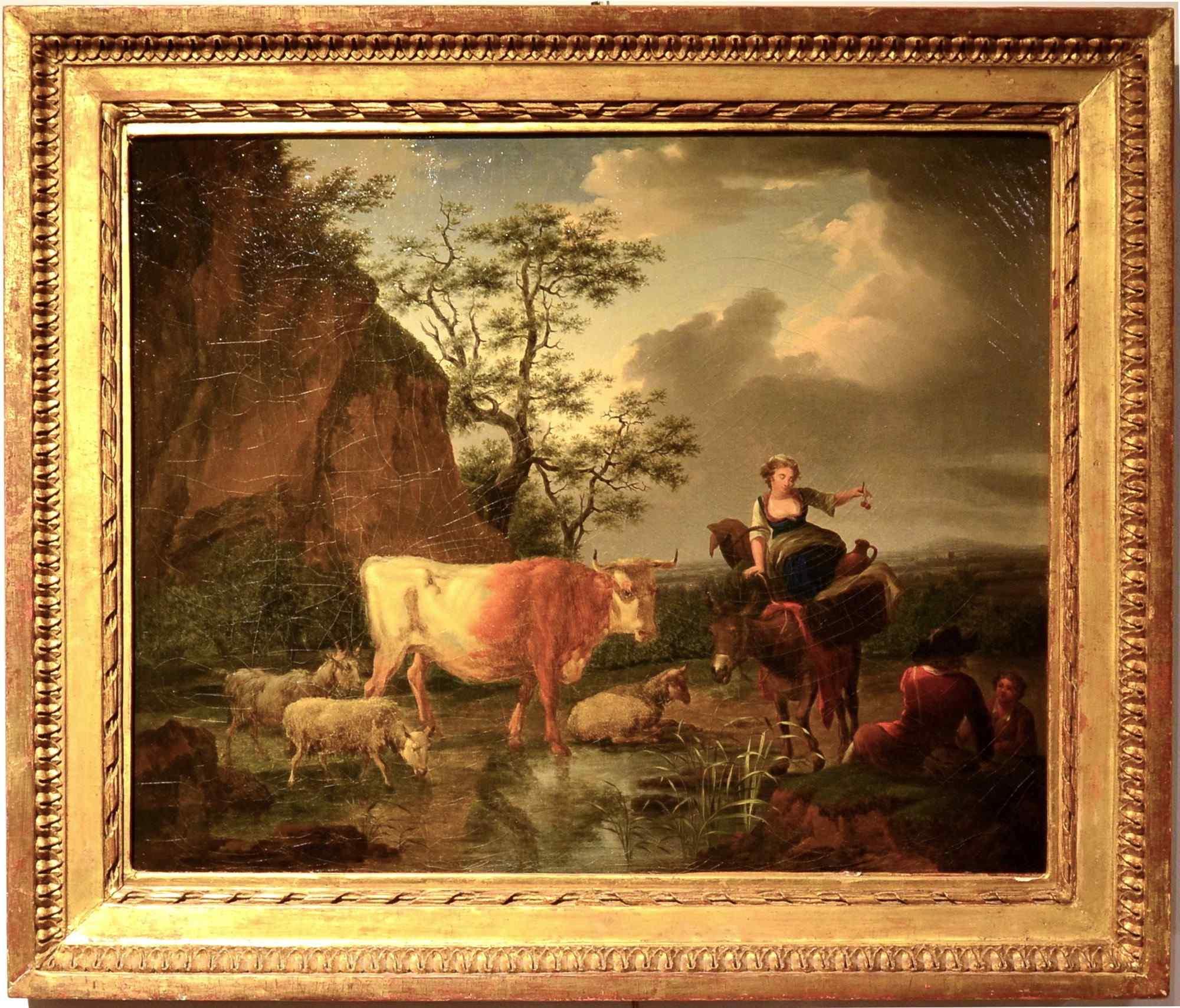 Il riposo dei pastori Karel Dujardin 1626-1678