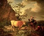 Il riposo dei pastori Karel Dujardin 1626-1678-1