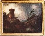 Coppia di paesaggi italiani-1