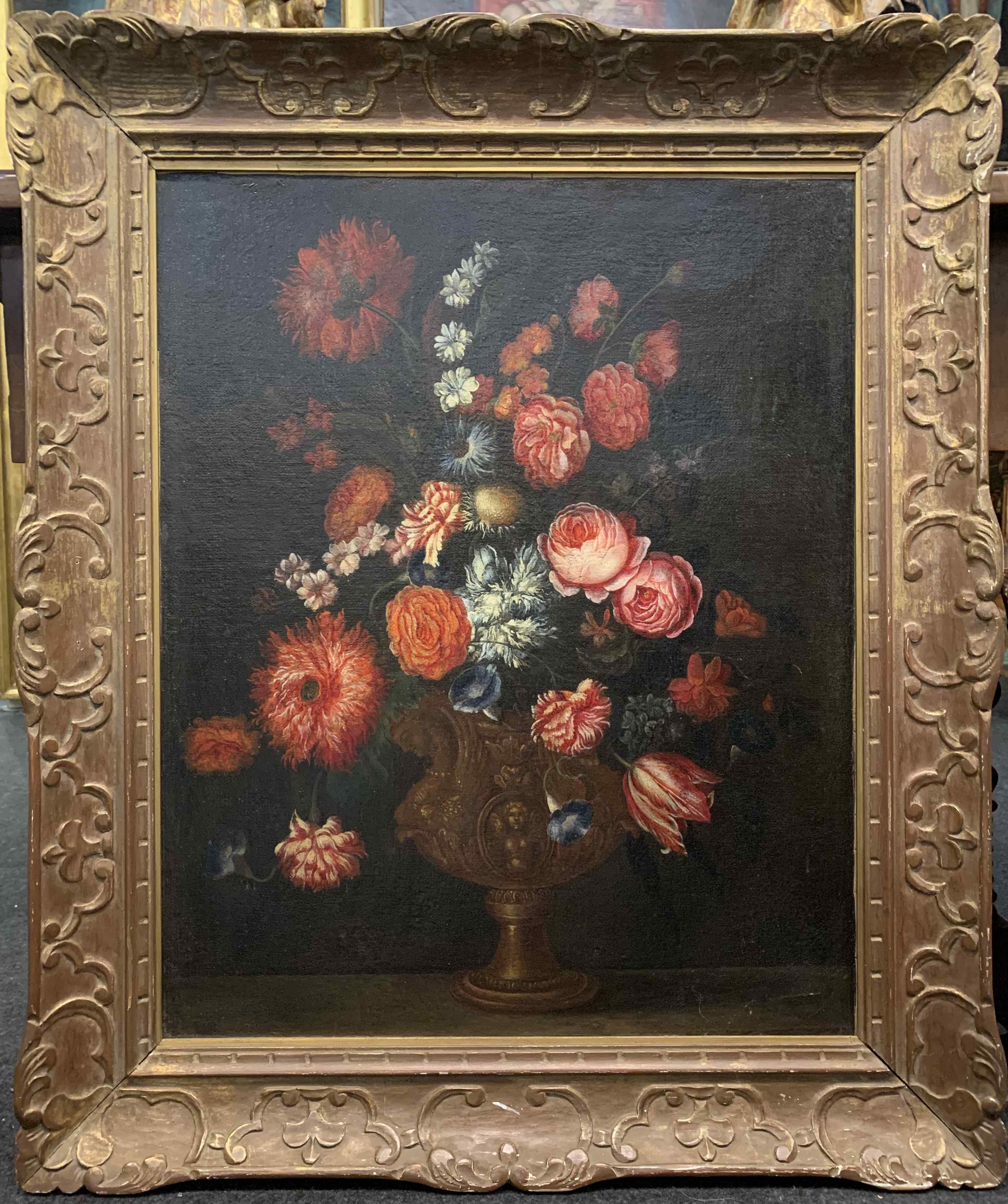 Still life with flowers. French School. The end XVII century