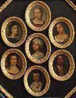 XIX CENTURY, SEVEN PORTRAITS MINIATURES, COPPER-1