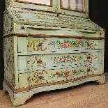 Trumeau veneziano in legno laccato e dipinto del XX secolo-0