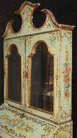 Trumeau veneziano in legno laccato e dipinto del XX secolo-5