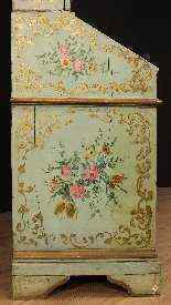 Trumeau veneziano in legno laccato e dipinto del XX secolo-13