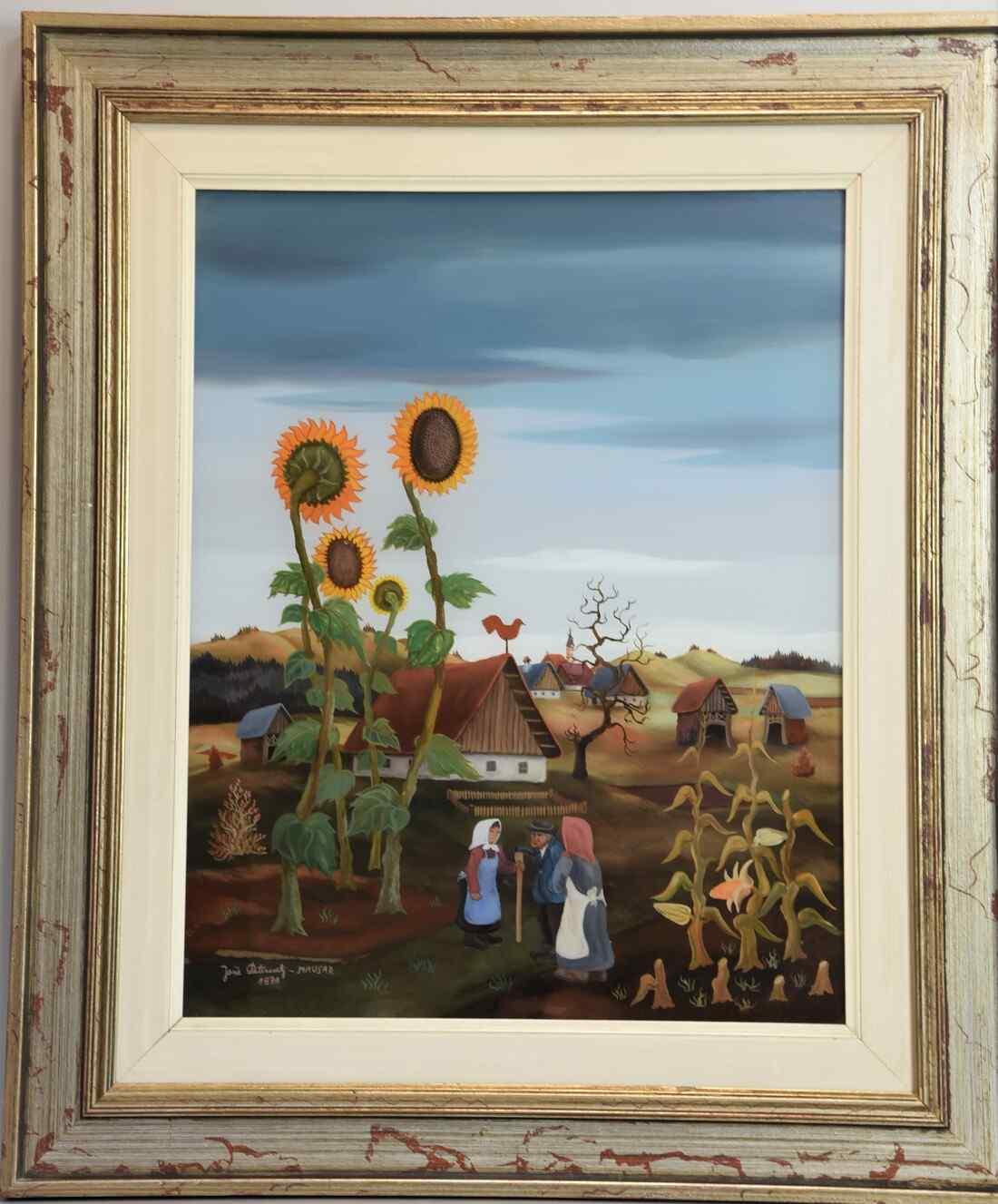 Dipinto del XX secolo – I GIRASOLI – Olio su tela