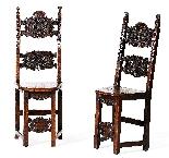 Coppia di sedie Luigi XIV Lombarde-13