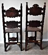 Coppia di sedie Luigi XIV Lombarde-9