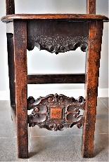 Coppia di sedie Luigi XIV Lombarde-5