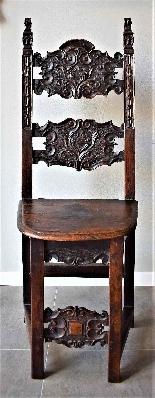 Coppia di sedie Luigi XIV Lombarde-1