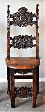 Coppia di sedie Luigi XIV Lombarde-2