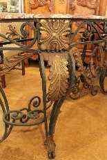 Battuto Console Ferro Luigi XV Style-1