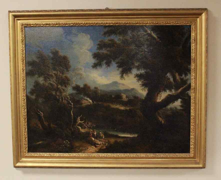 Dipinto olio su tela autore Jan Frans Van Bloemen, fine XVII
