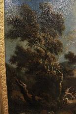 Dipinto olio su tela autore Jan Frans Van Bloemen, fine XVII-1