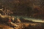 Dipinto olio su tela autore Jan Frans Van Bloemen, fine XVII-3