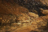 Dipinto olio su tela autore Jan Frans Van Bloemen, fine XVII-11