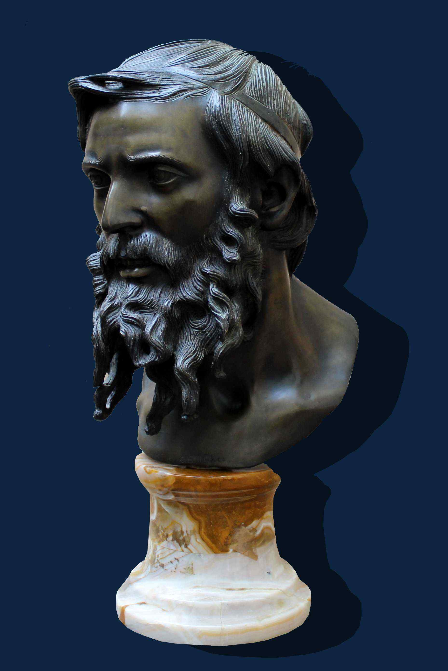 Vincenzo Gemito, Philosopher Bust, Bronze