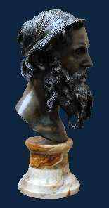 Vincenzo Gemito, Buste du philosophe, Bronze-2