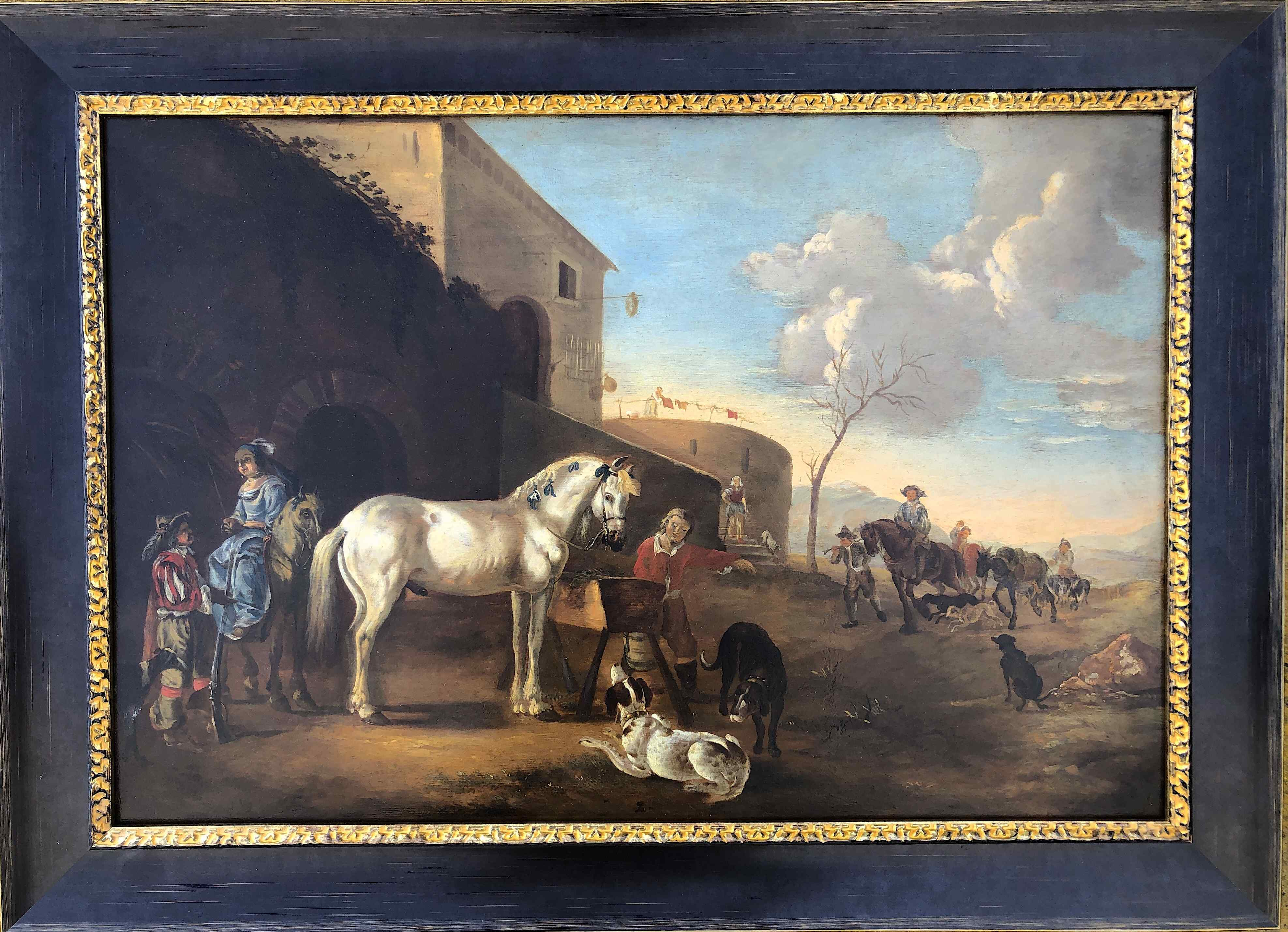 Jan Baptist Weenix 1621-1661 scena dalla vita rurale