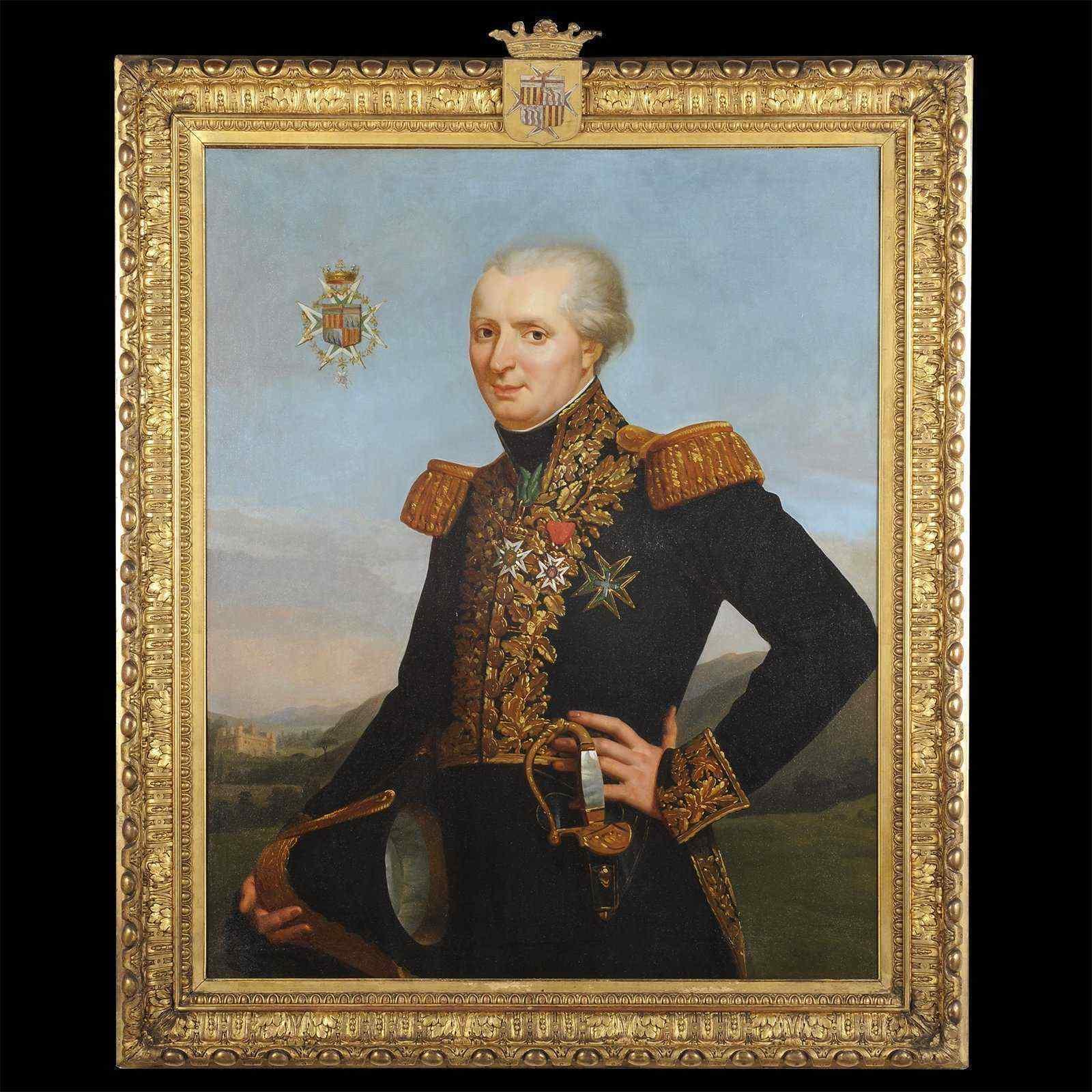 Портрет Жан Энн де ла BARTHE де Жискаро - Французский 19-ого