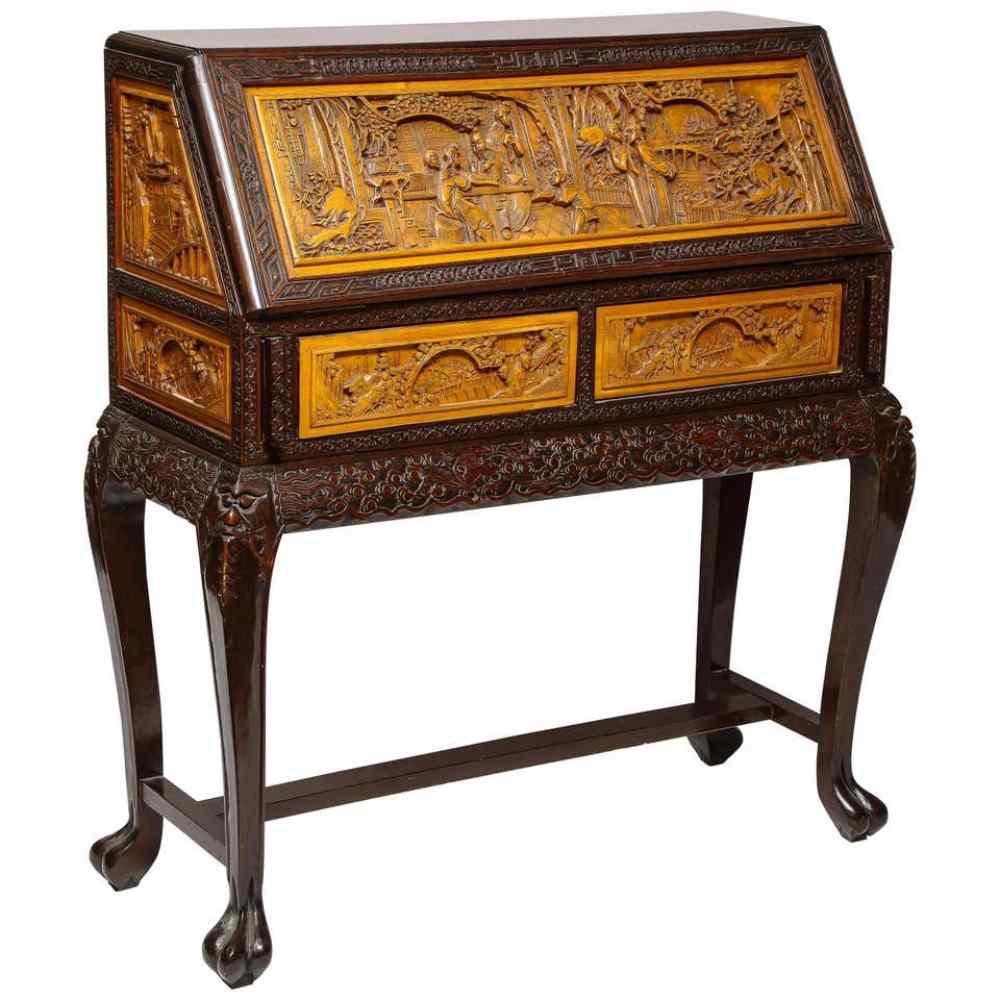 Mobile da scrivania in legno duro figurato intagliato esport