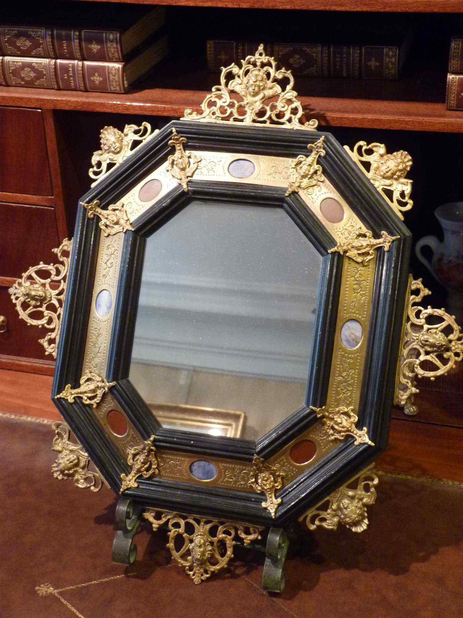 Specchio ottagonale di epoca napoleone iii anticswiss for Specchio 1900