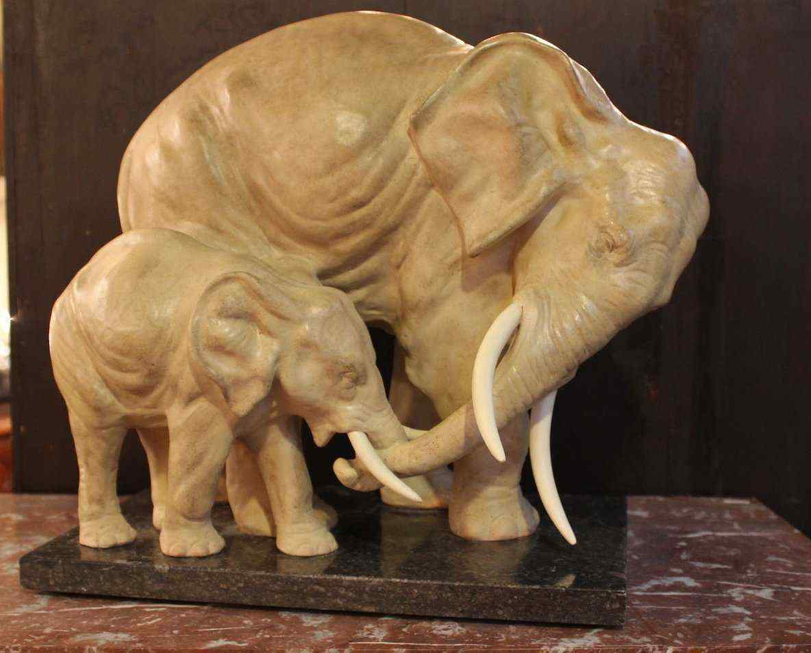 Elephants Terracotta