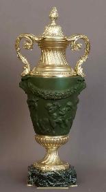 Paire De Vases Couverts d'Après Clodion XIXème-2