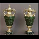 Paire De Vases Couverts d'Après Clodion XIXème-1