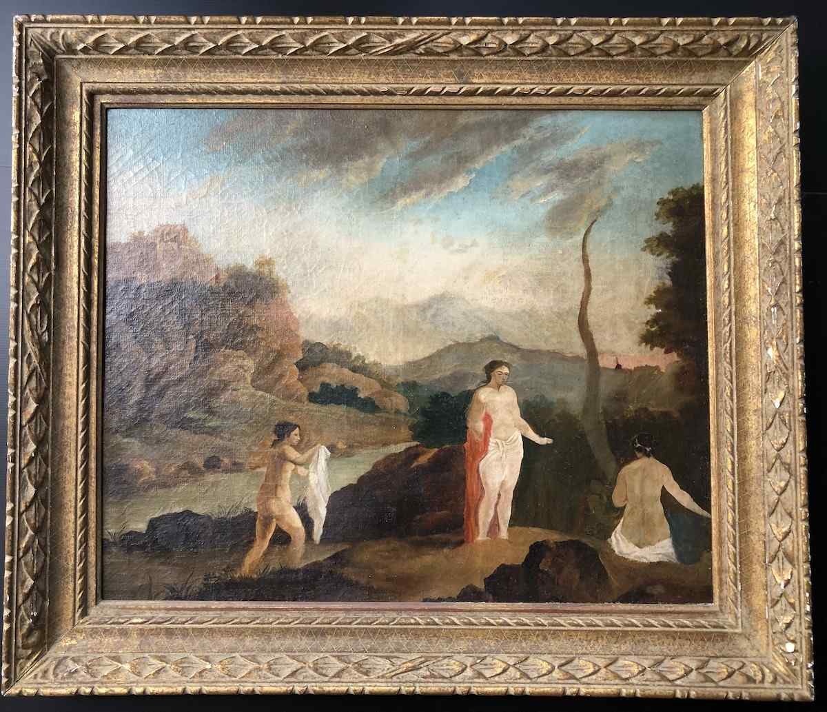 Egeria and the Bathers Importante Tavolo 1920 Art Déco