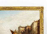 Dipinto ad olio antico Grand Canal Alfred Pollentine 1877-6