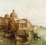 Dipinto ad olio antico Grand Canal Alfred Pollentine 1877-5