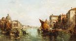 Dipinto ad olio antico Grand Canal Alfred Pollentine 1877-1