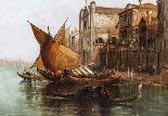 Dipinto ad olio antico Grand Canal Alfred Pollentine 1877-3