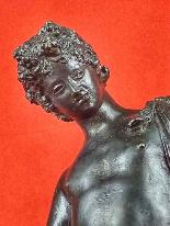 Scultura in Bronzo Grand Tour Narciso XIX Secolo-1