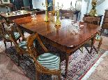 Tavolo da Sala Vittoriano in Mogano XIX Secolo-8