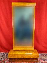 Specchio Art Déco in betulla e noce del XX secolo-8