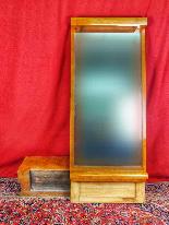 Specchio Art Déco in betulla e noce del XX secolo-9