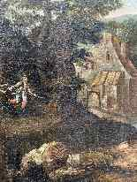 Paesaggio Con Scena Di Caccia al lupo. XVIII secolo-5