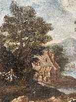Paesaggio Con Scena Di Caccia al lupo. XVIII secolo-1