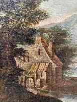 Paesaggio Con Scena Di Caccia al lupo. XVIII secolo-2