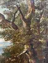 Paesaggio Con Scena Di Caccia al lupo. XVIII secolo-8