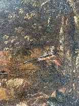 Paesaggio Con Scena Di Caccia al lupo. XVIII secolo-11