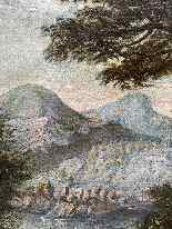 Paesaggio Con Scena Di Caccia al lupo. XVIII secolo-13