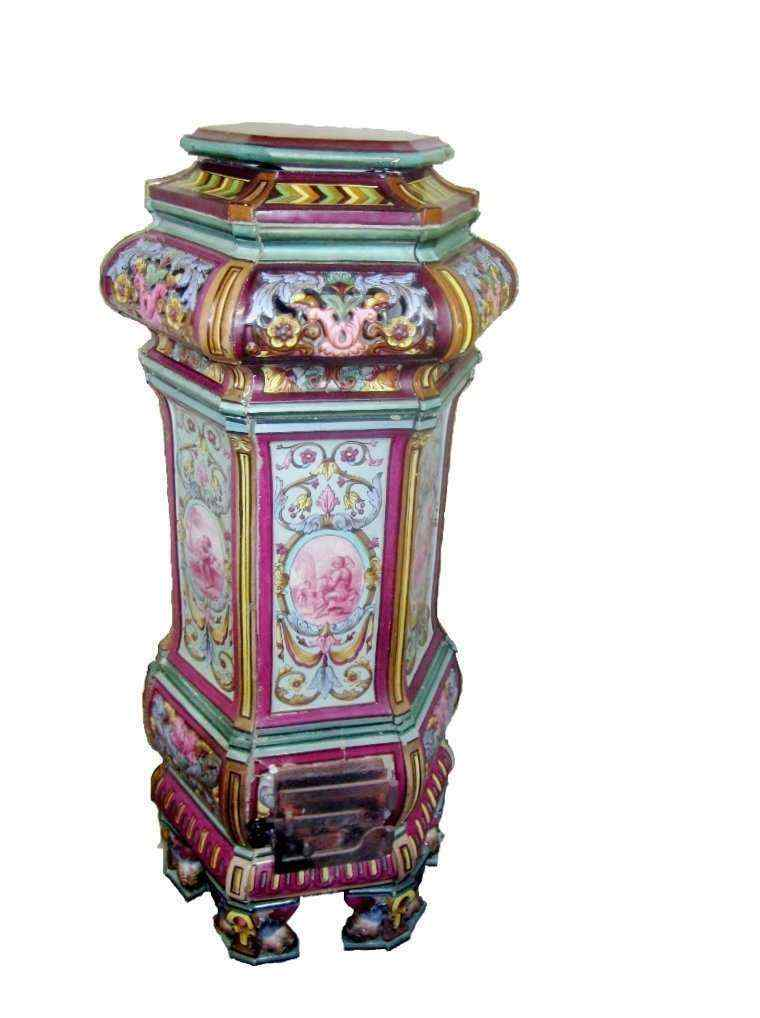 Antica stufa in maiolica, XIX secolo