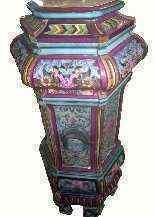 Antica stufa in maiolica, XIX secolo-2