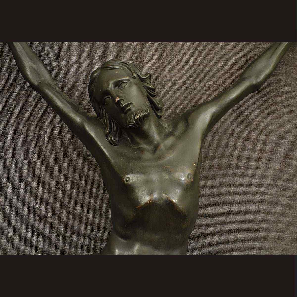 Grande Cristo Bronze XIX Secolo