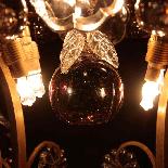Lustre aux fruits en cristal taillé et bronze doré, XIXe-7