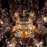 Lustre aux fruits en cristal taillé et bronze doré, XIXe-3