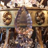 Lustre aux fruits en cristal taillé et bronze doré, XIXe-10