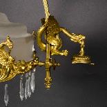 Lustre aux dragons en bronze et verre, XIXe-6